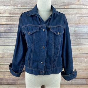 Levis For Gals Vintage 70s Denim Jean Retro Jacket
